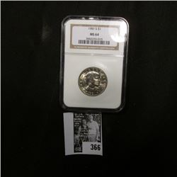 1981 S Susan B. Anthony Dollar NGC slabbed MS 64.
