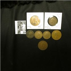 Great Britain: 1896, 1934, 1935, & 1941 Half Pennies; 1940, 62, & 64 Large Pennies.