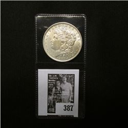 1883 O U.S. Morgan Silver Dollar, AU.