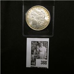 1889 P U.S. Morgan Silver Dollar, Brilliant Uncirculated with attractive Gold toning.