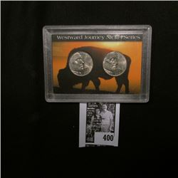 2005 Denver Mint Westward Journey Two-nickel Set of coins in a special holder.