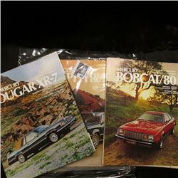 (10) Different Old Picture Car brochures dating back from the Sixties to Ninties.