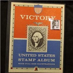 """Victory United States Stamp Album with full size Illustrations"" and a large assortment of U.S. Post"