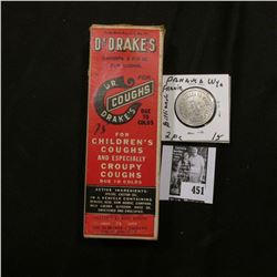 """Original box and bottle """"Dr. Drake's For Coughs Due to Colds For Children's Coughs and Especially Cr"""