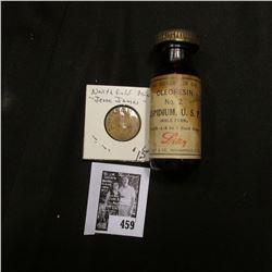 Amber Bottle with screw top  Oleoresin No. 2 Aspidium, U.S. (Male Fern)  by Lilly Drug Co.; &  Biagi