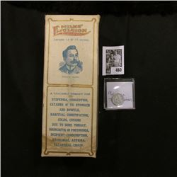 """Original Box with bottle of """"Milks' Emulsion Nature Remedy…a valuable remedy for Dyspepsia, Indigest"""