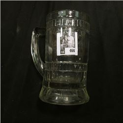 """Clear Gass Mug """"Rochester Root Beer""""."""