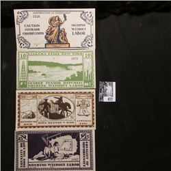 """Four note set of Series of June, 1925 5 Cent, 10 Cent, 25 Cent, & 50 Cent """"The George Junior Republi"""