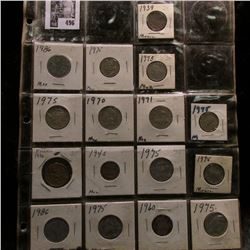 20-pocket plastic page with (16) Mexican coins.