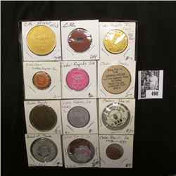 "Collection of Cedar Rapids, Iowa memorabilia in a 6"" x 8"" case."