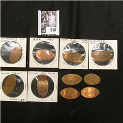 (10) Different Elongated Lincoln Cents.