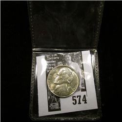 1942 S World War II Silver Jefferson Nickel, Gem BU.