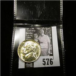 1944 D World War II Silver Jefferson Nickel, Gem BU.
