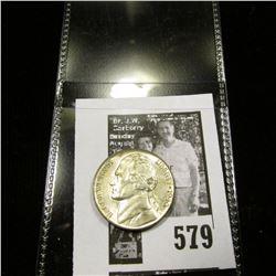 1943 P World War II Silver Jefferson Nickel, BU