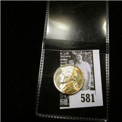 1943 P World War II Silver Jefferson Nickel, Superb obverse toning, Uncirculated.