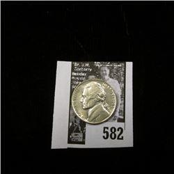 1943 P World War II Silver Jefferson Nickel, BU.
