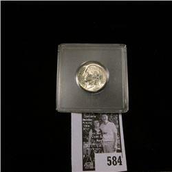 1945 S World War II Silver Jefferson Nickel, Gem BU.