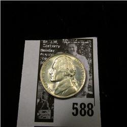 1944 P World War II Silver Jefferson Nickel, BU.
