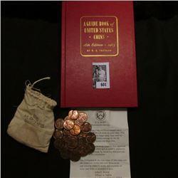 Miniature Cloth Mint Money bag containing (4) 1971 P & (19( 1971 S Lincoln Cents, Brilliant Uncircul