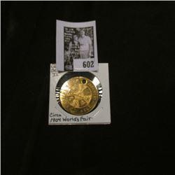 "Circa 1904 World's Fair 'Quack Medicine' Medal, ""Death Judgment Heaven Hell/Remember/Sin Not"", ""Wort"