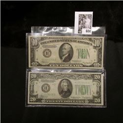 """Series 1934A """"H"""" Federal Reserve Bank of St. Louis, Mo. $10 Banknote; & Series 1934 """"H"""" Federal Rese"""