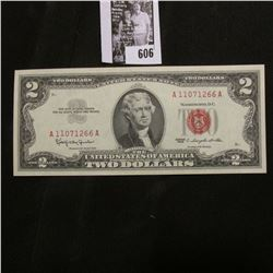 Series 1963 Two Dollar U.S. Note with 'Red Seal', Crisp Uncirculated.
