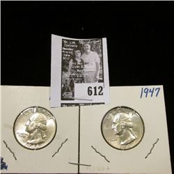 1946 D & 1947 P Gem BU Washington Quarters.