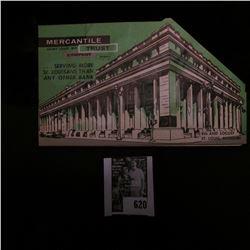 """Saint Louis, Mo. Mercantile Trust Company"" Dime Saver includes several BU Silver Dimes including (2"