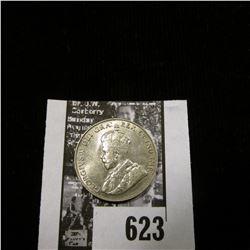 1924 Canada Nickel, Uncirculated.