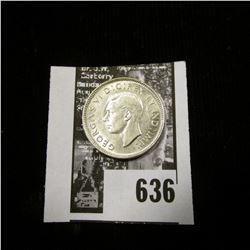 1938 Canada Nickel, Almost Uncirculated.