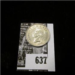 1939 Canada Nickel, Almost Uncirculated.