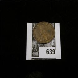 1911 Canada Large Cent, Mostly Brown AU.