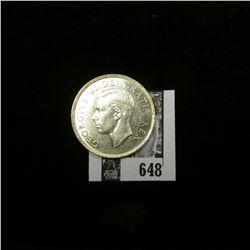1949 Canada Silver Dollar, Almost Uncirculated.