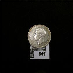 1950 Canada Silver Dollar, Almost Uncirculated.