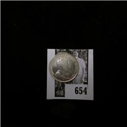 1904 Canada Quarter, Almost Uncirculated. Streak of black toning.