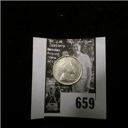 1903 H Canada Five Cent Silver, EF.