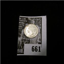 1897 Canada Five Silver, VF..
