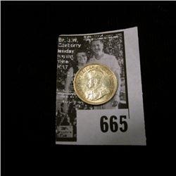 1917 Canada Five Silver, Choice AU.