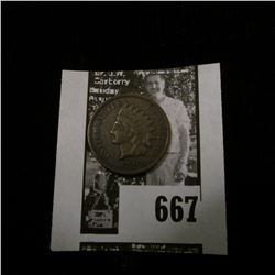 1909 Indian Head Cent, VF.