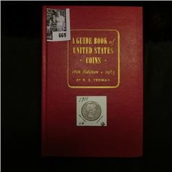 """1911 P U.S. Barber Quarter, VG & and a Mint condition 1963 """"A Guide Book of United States Coins"""" 16t"""