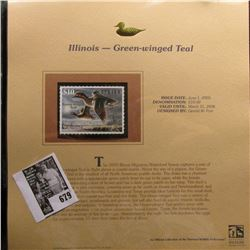 2005 $10 Illinois Migratory Waterfowl Stamp depicting the Green-winged Teal, Absolute mint condition