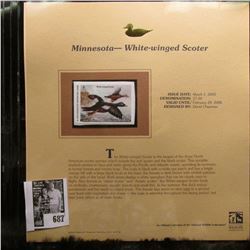 2005 $7.50 Minnesota Migratory Waterfowl Stamp depicting the White-winged Scoter, Absolute mint cond