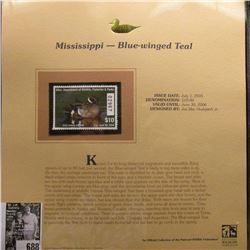 2005 $10 Mississppi Migratory Waterfowl Stamp depicting the Blue-winged Teal, Absolute mint conditio