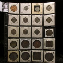 20-pocket plastic page of Mexican Coins