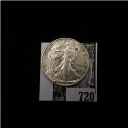 1939 D Walking Liberty Half Dollar, AU.