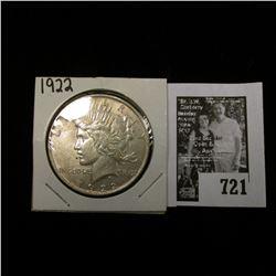 """1922 P U.S. Peace Silver Dollar, EF; & """"Iowa Educational Directory School Year 1929-1930:."""