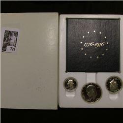 1776-1976 S U.S. Three-Piece Silver Proof Set. Original as issued.