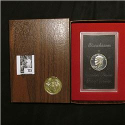 1973 S U.S. Silver Eisenhower Proof Dollar in original brown box.