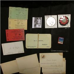 """1934 Seasons Greeting Stamp; large group of old Iowa Business Cards; (3) different """"Muscatine, Iowa"""