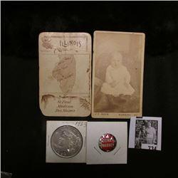 """J.B. Sabin Hammond Wis."" Black and white baby Photo; ""Illinois St. Paul Madison Des Moines"" card; """
